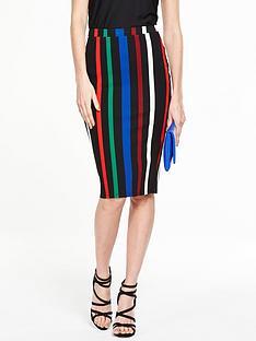 v-by-very-stripe-ponte-pencil-skirt