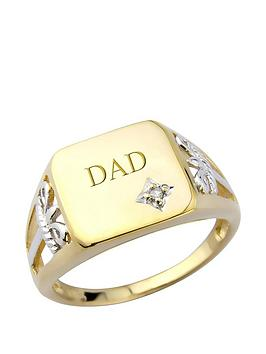 keepsafe-silver-amp-9ct-yellow-gold-plate-amp-diamond-signet-ring