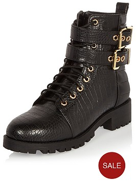 river-island-croc-lace-up-utility-boot