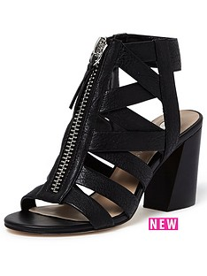 river-island-caged-block-heel-shoe-boot-black