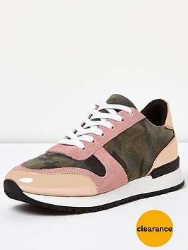 river-island-camo-mix-runner-trainer