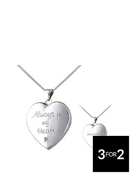 keepsafe-keepsafe-always-in-my-heart-sterling-silver-diamond-set-message-locket