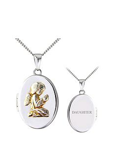 the-love-silver-collection-sterling-silver-and-yellow-rhodium-guardian-angel-locket