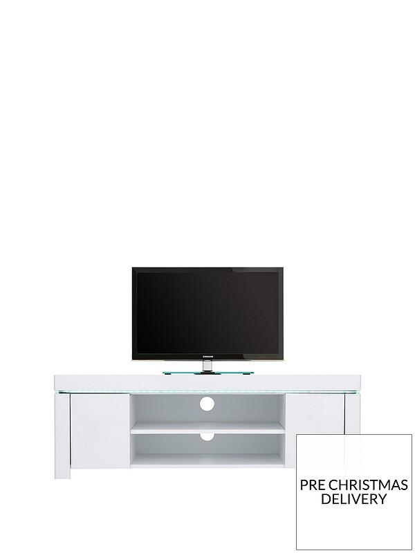 online store e382e 25ebf Atlantic Gloss Corner TV Unit with LED Light - fits up to 50 inch TV