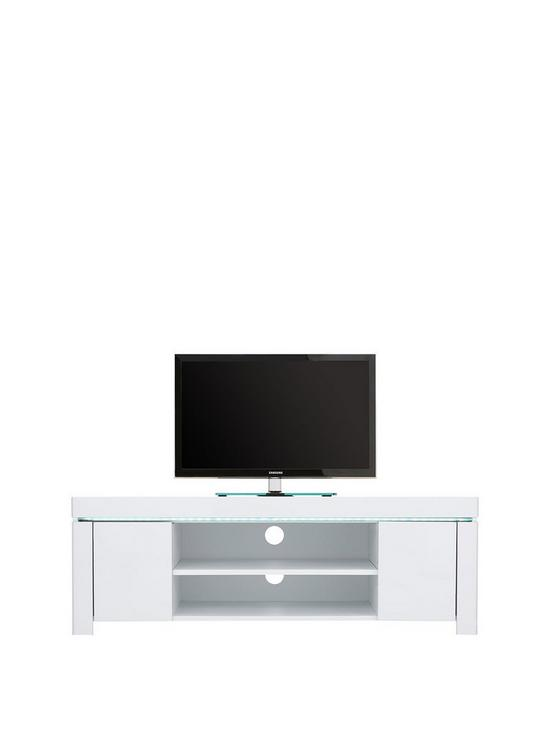 Atlantic Gloss Corner TV Unit With LED Light   Fits Up To 50 Inch TV
