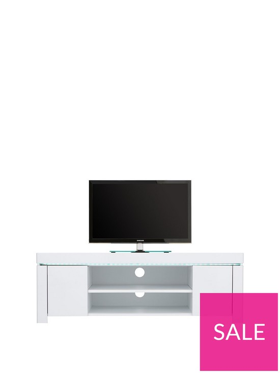 f65600383 Atlantic Gloss Corner TV Unit with LED Light - fits up to 50 inch TV |  very.co.uk