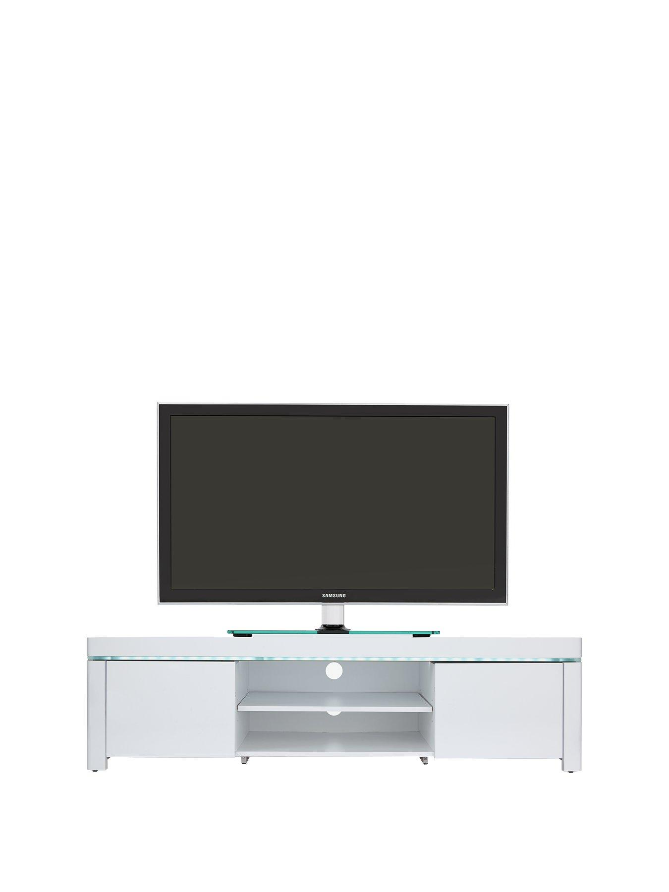 Atlantic Gloss TV Unit With LED Lights   Fits Up To 62 Inch TV