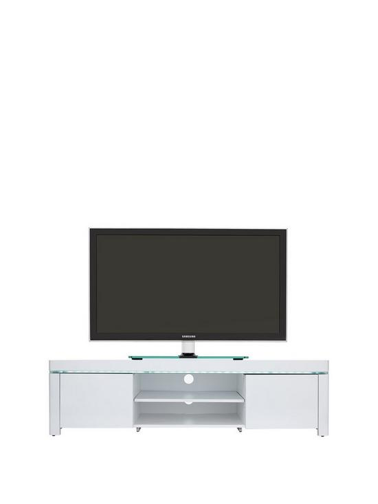 Atlantic Gloss TV Unit With LED Lights   Fits Up To 65 Inch TV