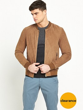 selected-homme-indigo-suede-bomber
