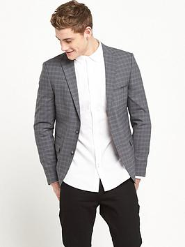 selected-homme-wool-mix-check-blazer