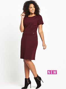 so-fabulous-curve-button-detail-ponte-dress-bordeaux