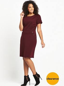 v-by-very-curve-curve-button-detail-ponte-dress-bordeaux