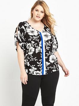 so-fabulous-curve-cold-shoulder-printed-blouse