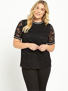 so-fabulous-curve-rib-trim-lace-t-shirt-black