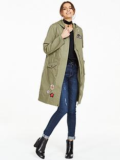 v-by-very-longline-canvas-badged-parka-coat
