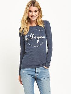 hilfiger-denim-hilfiger-denim-long-sleeve-cotton-t-shirt