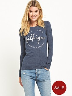 hilfiger-denim-hilfiger-denim-long-sleeve-cotton-t-shirt
