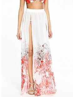 forever-unique-capri-blossom-beach-maxi-skirt-redwhite-blossom-print