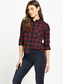 Relaxed Shirt  Dark Red