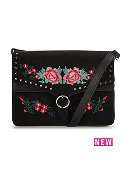 v-by-very-flower-embroidered-amp-stud-detail-crossbodynbspbag-blacknbsp