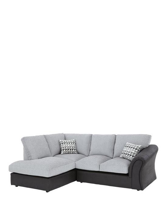 Linear Left Hand Standard Back pact Corner Chaise Sofa