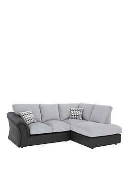 Linear Right Hand Standard Back Compact Corner Chaise Sofa