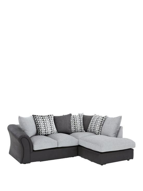 Linear Right Hand Scatterback pact Corner Chaise Sofa