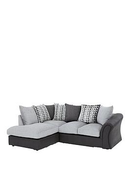 Linear Left Hand Scatterback Compact Corner Chaise Sofa