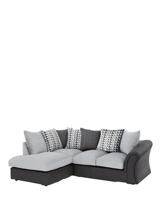 Linear Left Hand Scatterback pact Corner Chaise Sofa