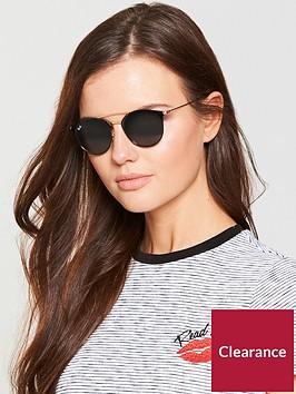 ray-ban-raised-bar-round-sunglasses-black