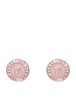 ted-baker-eisley-logo-mini-stud-earrings-rose-goldpink