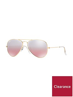 ray-ban-gradientnbsplensnbspaviator-sunglasses-gold