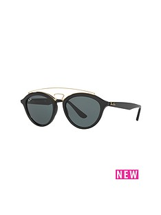 ray-ban-raised-bar-clubround-sunglasses-blackgold