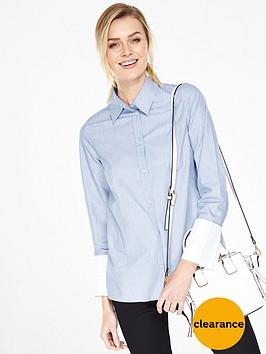 v-by-very-deep-cuff-cotton-shirt