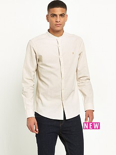 farah-steen-long-sleeve-grandad-shirt