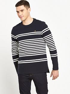 farah-branson-long-sleeve-texture-stripe-t-shirt