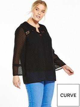 v-by-very-curve-crochet-trim-dobby-blouse