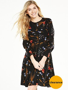v-by-very-printed-long-sleeve-tea-dress