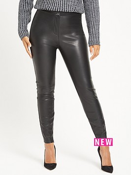 rochelle-humes-pu-trouser-black
