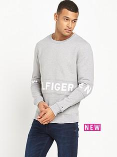 hilfiger-denim-text-logo-crew-sweatshirt