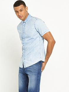 calvin-klein-jeans-wilken-bleached-denim-short-sleeved-shirt