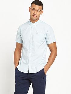 hilfiger-denim-one-pocket-short-sleeve-shir