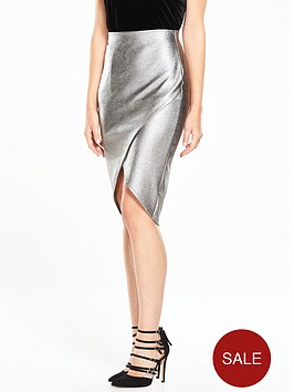 v-by-very-metallic-wrap-skirt