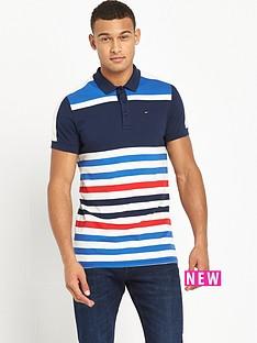 hilfiger-denim-colour-block-striped-polo