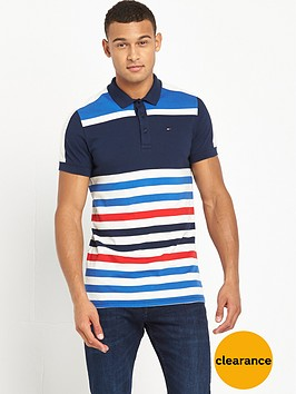 tommy-jeans-colour-block-striped-polo