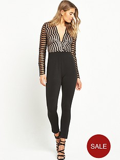 rare-sequin-lace-wrap-jumpsuit-black