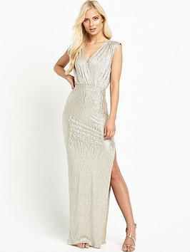 rare-metallic-split-thigh-maxi
