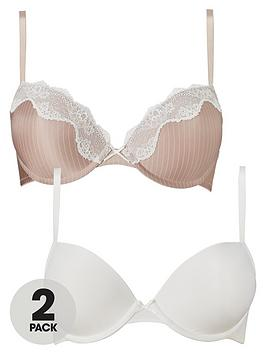 dorina-bianca-push-up-bra-2-pack-blush-stripeivory