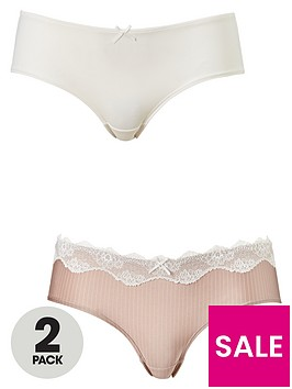 dorina-bianca-brief-2-pack-blush-stripeivory