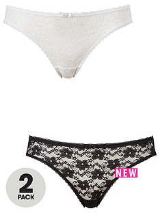 dorina-sonia-2-pack-lace-briefs-blackwhite